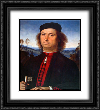 Francesco Delle Opere 20x22 Black or Gold Ornate Framed and Double Matted Art Print by Pietro Perugino