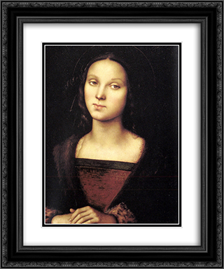 Mary Magdalen 20x24 Black or Gold Ornate Framed and Double Matted Art Print by Pietro Perugino