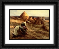 The Gleaners 24x20 Black or Gold Ornate Framed and Double Matted Art Print by Leon Augustin L'Hermitte