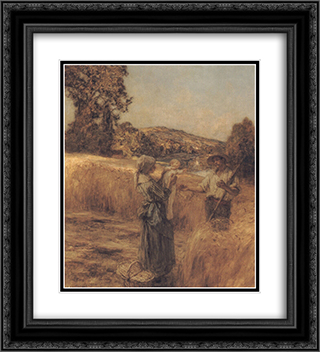 The Reapers' Child 20x22 Black or Gold Ornate Framed and Double Matted Art Print by Leon Augustin L'Hermitte