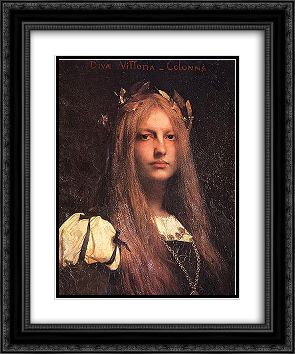 Diva Vittoria Colonna 20x24 Black or Gold Ornate Framed and Double Matted Art Print by Jules Joseph Lefebvre