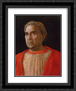 Portrait of Cardinal Lodovico Trevisano 20x24 Black or Gold Ornate Framed and Double Matted Art Print by Andrea Mantegna