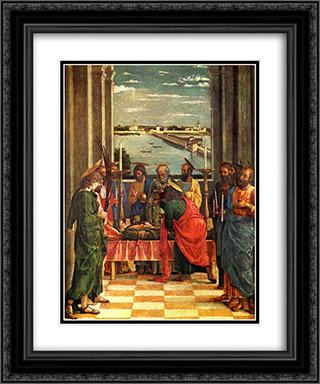 The Death of the Virgin 20x24 Black or Gold Ornate Framed and Double Matted Art Print by Andrea Mantegna