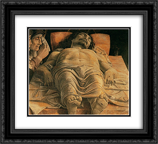 The Lamentation over the Dead Christ 22x20 Black or Gold Ornate Framed and Double Matted Art Print by Andrea Mantegna