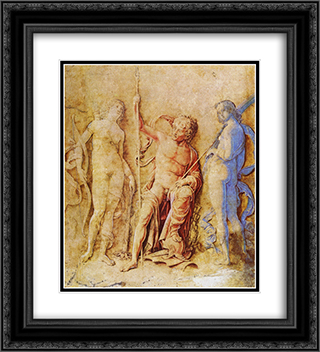 Mars, Venus, and Diana 20x22 Black or Gold Ornate Framed and Double Matted Art Print by Andrea Mantegna