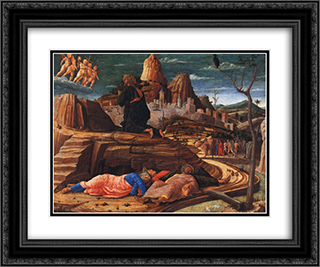 Agony in the Garden 24x20 Black or Gold Ornate Framed and Double Matted Art Print by Andrea Mantegna