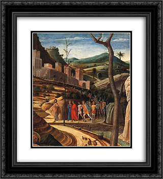 Agony in the Garden [detail] 20x22 Black or Gold Ornate Framed and Double Matted Art Print by Andrea Mantegna