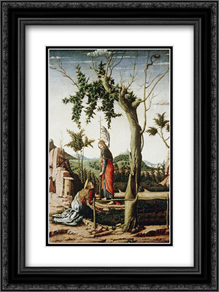 Noli me tangere 18x24 Black or Gold Ornate Framed and Double Matted Art Print by Andrea Mantegna