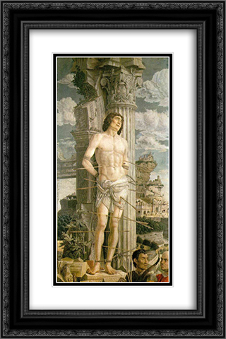 St Sebastian 16x24 Black or Gold Ornate Framed and Double Matted Art Print by Andrea Mantegna