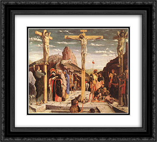 Crucifixion 22x20 Black or Gold Ornate Framed and Double Matted Art Print by Andrea Mantegna