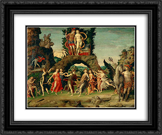 Parnassus 24x20 Black or Gold Ornate Framed and Double Matted Art Print by Andrea Mantegna