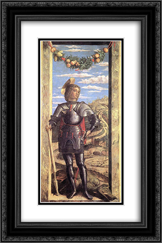 St George 16x24 Black or Gold Ornate Framed and Double Matted Art Print by Andrea Mantegna