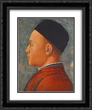 Portrait of a Man 20x24 Black or Gold Ornate Framed and Double Matted Art Print by Andrea Mantegna
