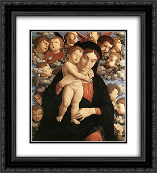 The Madonna of the Cherubim 20x22 Black or Gold Ornate Framed and Double Matted Art Print by Andrea Mantegna