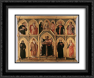San Luca Altarpiece 24x20 Black or Gold Ornate Framed and Double Matted Art Print by Andrea Mantegna