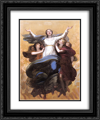 L'Assomption de la Vierge 20x24 Black or Gold Ornate Framed and Double Matted Art Print by Pierre Paul Prud'hon