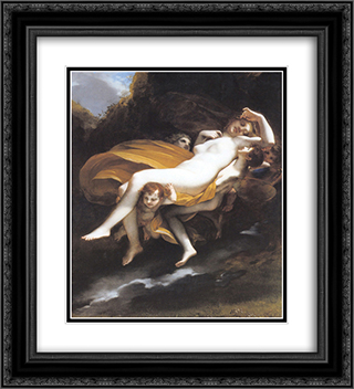 Psyche enleve par les zephyrs 20x22 Black or Gold Ornate Framed and Double Matted Art Print by Pierre Paul Prud'hon