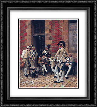 The Sergeant's Portrait 20x22 Black or Gold Ornate Framed and Double Matted Art Print by Ernest Meissonier