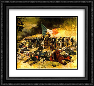 The Siege of Paris 22x20 Black or Gold Ornate Framed and Double Matted Art Print by Ernest Meissonier