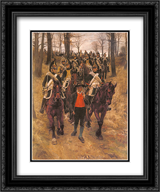 The Guide 20x24 Black or Gold Ornate Framed and Double Matted Art Print by Ernest Meissonier