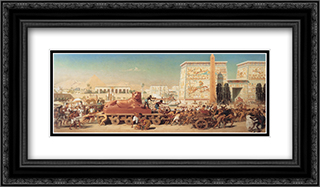 Israel in Egypt 24x14 Black or Gold Ornate Framed and Double Matted Art Print by Edward John Poynter