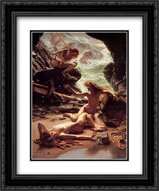 The Cave of the Storm Nymphs 20x24 Black or Gold Ornate Framed and Double Matted Art Print by Edward John Poynter