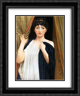 Cressida 20x24 Black or Gold Ornate Framed and Double Matted Art Print by Edward John Poynter