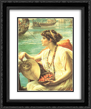A Roman boat race 20x24 Black or Gold Ornate Framed and Double Matted Art Print by Edward John Poynter