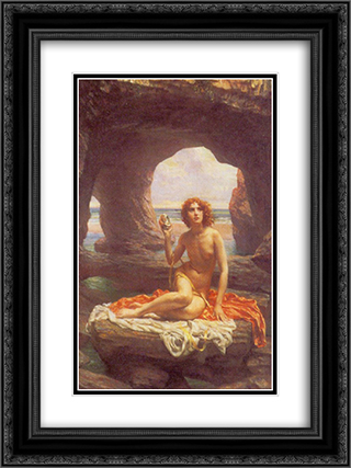 At low tide 18x24 Black or Gold Ornate Framed and Double Matted Art Print by Edward John Poynter