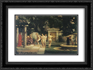 A visit to Aesclepius 24x18 Black or Gold Ornate Framed and Double Matted Art Print by Edward John Poynter