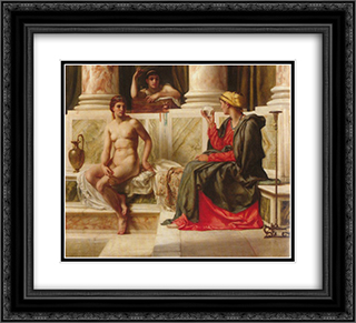 The fortune teller 22x20 Black or Gold Ornate Framed and Double Matted Art Print by Edward John Poynter