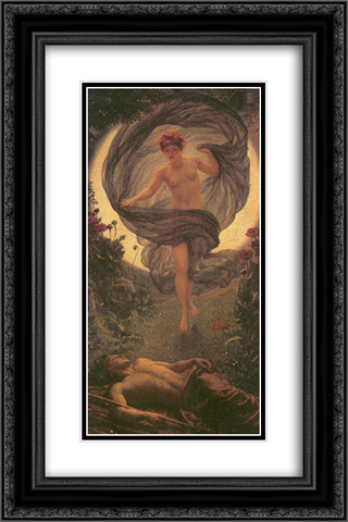 The vision of Endymion 16x24 Black or Gold Ornate Framed and Double Matted Art Print by Edward John Poynter