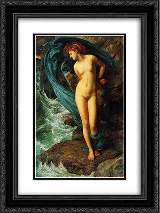 Andromeda 18x24 Black or Gold Ornate Framed and Double Matted Art Print by Edward John Poynter