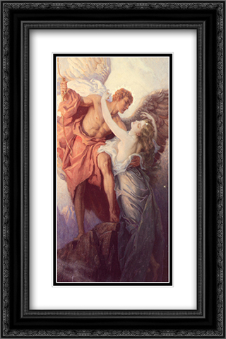 Day and the Dawnstar 16x24 Black or Gold Ornate Framed and Double Matted Art Print by Herbert James Draper