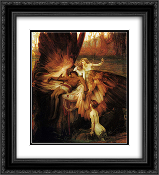 Lament for Icarus 20x22 Black or Gold Ornate Framed and Double Matted Art Print by Herbert James Draper