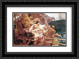 The Golden Fleece 24x18 Black or Gold Ornate Framed and Double Matted Art Print by Herbert James Draper