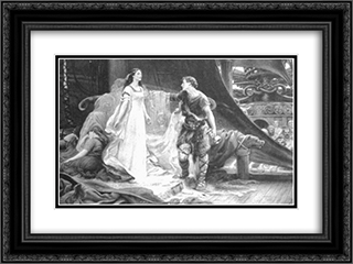 Tristan and Isolde 24x18 Black or Gold Ornate Framed and Double Matted Art Print by Herbert James Draper