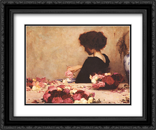 Pot Pourri 24x20 Black or Gold Ornate Framed and Double Matted Art Print by Herbert James Draper