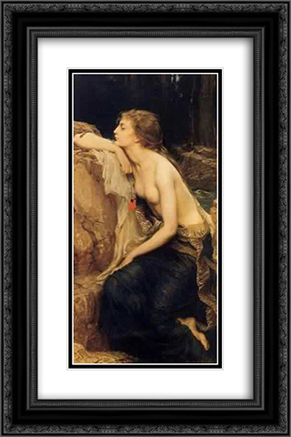 Lamia 16x24 Black or Gold Ornate Framed and Double Matted Art Print by Herbert James Draper