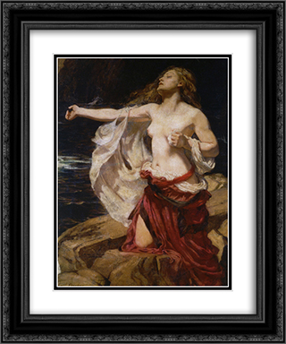 Ariadne 20x24 Black or Gold Ornate Framed and Double Matted Art Print by Herbert James Draper