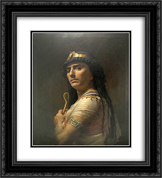 King David 20x22 Black or Gold Ornate Framed and Double Matted Art Print by Frederick Arthur Bridgman
