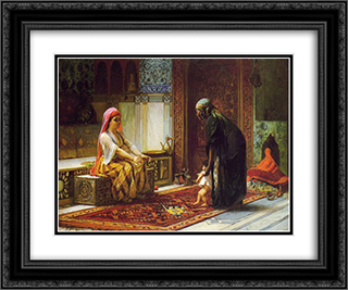Mother and Child 24x20 Black or Gold Ornate Framed and Double Matted Art Print by Frederick Arthur Bridgman