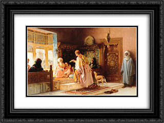 The Messenger 24x18 Black or Gold Ornate Framed and Double Matted Art Print by Frederick Arthur Bridgman