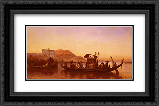 Funerailles D'Une Momie 24x16 Black or Gold Ornate Framed and Double Matted Art Print by Frederick Arthur Bridgman