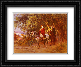 The Return 24x20 Black or Gold Ornate Framed and Double Matted Art Print by Frederick Arthur Bridgman