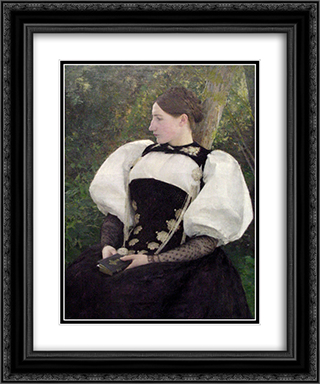 A Woman from Bern, Switzerland 20x24 Black or Gold Ornate Framed and Double Matted Art Print by Pascal Adophe Jean Dagnan Bouveret