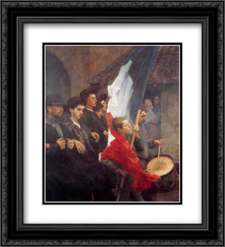 The Conscripts 20x22 Black or Gold Ornate Framed and Double Matted Art Print by Pascal Adophe Jean Dagnan Bouveret