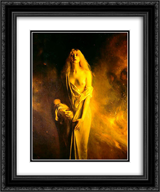 Marguerite au Sabbat 20x24 Black or Gold Ornate Framed and Double Matted Art Print by Pascal Adophe Jean Dagnan Bouveret