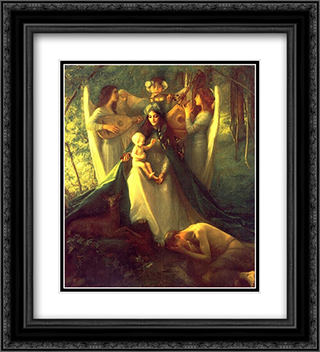 Consolatrix Afflictorum 20x22 Black or Gold Ornate Framed and Double Matted Art Print by Pascal Adophe Jean Dagnan Bouveret