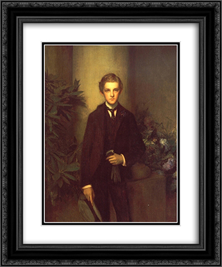 Portrait of Childs Frick 20x24 Black or Gold Ornate Framed and Double Matted Art Print by Pascal Adophe Jean Dagnan Bouveret